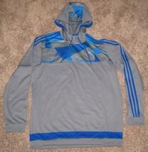 Adidas Soccer Men's Tiro 15+ Climacool Training Hoodie A99391 BLUE GREY ... - $42.03