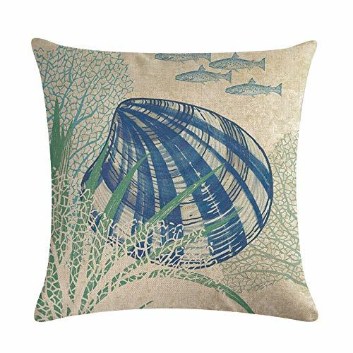 Primary image for EDS Nautical Seaworld Undersea Animals Throw Pillows Covers Pillowcase Beach Coa