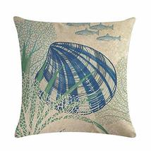 EDS Nautical Seaworld Undersea Animals Throw Pillows Covers Pillowcase B... - $11.33