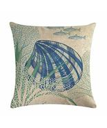 EDS Nautical Seaworld Undersea Animals Throw Pillows Covers Pillowcase B... - $11.33