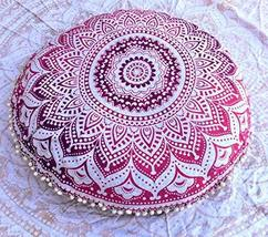 Traditional Jaipur Ombre Mandala Floor Cushions with Filler, Decorative ... - $52.46