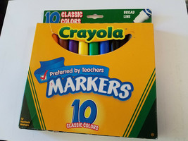 Crayola 58-7722 Broad Line Markers-Classic Colors 10/Pkg (NEW) - $4.90
