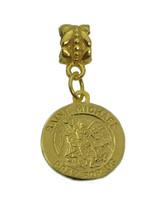 HOT New Saint Michael 24K Gold plated Archangel charm trample Satan European bea - $18.92