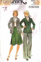 Vintage 1970's Misses' JACKET, SKIRT & PANTS Butterick Pattern 4378-b Si... - $10.00