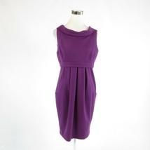 Purple ADRIANNA PAPELL stretch sleeveless sheath dress 10 - $29.99