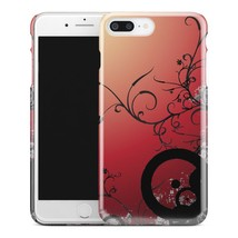 Casestry | Red Sunset Black Flower Vine Unique | iPhone 8 Plus Case - $11.99