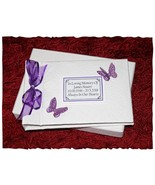 Memorial Book of Condolence  Personalised guest book  purple ribbon #1 - $39.06