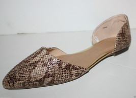 Gap NWT 8 Beige Brown Snake Reptile Print d'Orsay Flats Shoes - $31.99