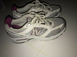 New Balance Womens Size 6.5 US WR400SWP Running Shoes White Silver Pink Mint - $22.43