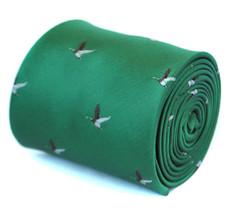 Frederick Thomas dunkelgrün Krawatte & fliegende Ente Design ft1926 Schießen