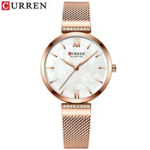 Gold Wristwatch Mesh Ladies Watches   CURREN Elegant Simple Watch Women's Bracel - $48.39
