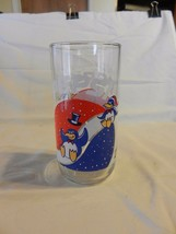 Pepsi Penguins Sliding Downhill Logo Glass - $18.56
