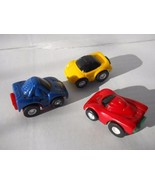 3 Pc. Mini Racers Set Race Cars Powerful Pullback Action nTy17 - $8.99