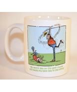 Golf Humour Golfer Worst Day White Coffee Mug Cup Golf Gifts inc 1992 - $11.88