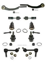 10 Pcs Tie Rod Ball Joint Stabilizer Link Kit fits Chevy Trailblazer Envoy 04-07 - $153.10