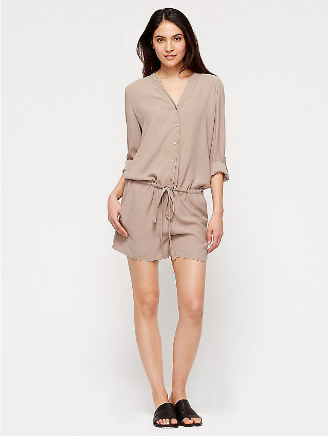 068b338a9587 Eileen Fisher Project V-Neck Silk Romper  and 50 similar items