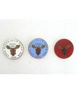 3 Vintage B.P.O.E. Long Beach Lodge 888 ELKS Poker Run Pinback Button Pins - $9.99