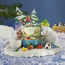 Lynn Bywaters The Magic Toy Chest Snowman Lighted Figurine By Lenox - Limited Ed - $200.00