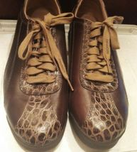 5M Designed VGC Unusual Mens In Leather Brown Size Shoes Rockport 11 8HnvqI87