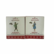 Hallmark 2017 Wizard Of Oz Dorothy And Scarecrow Christmas Holiday Ornaments Lot - $23.23