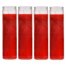 Unscented Candles Red Devotional Prayer Glass Container Candle, Sanctuar... - $21.64