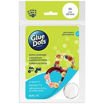 Glue Dots Permanent Adhesive Dot Sheets, Extra Large, Contains 60  1 Inc... - $7.00