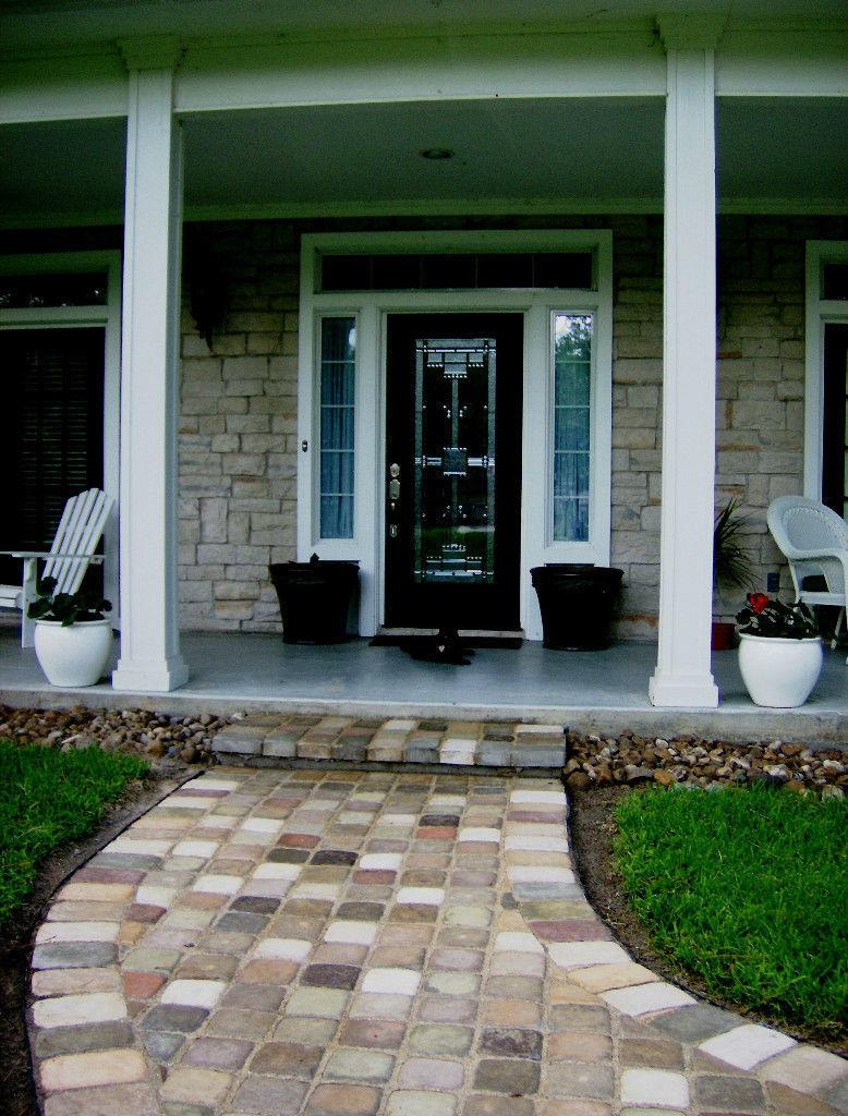 "Concrete Paver Molds 12- 8""x8"" Make Garden Cobblestone Walls Walks, Patio Pavers"