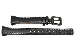 NIKE IMARA KEEVA BLACK LEATHER REPLACEMENT WATCH BAND - $14.84