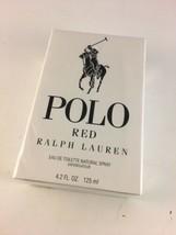 Polo Red By Ralph Lauren Eau De Toilette Spray 4.2oz/125ml NEW SEALED - $49.49