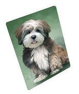 Lhasa Apso Dog Art Portrait Print Woven Throw Sherpa Plush Fleece Blanke... - $88.11