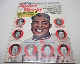 Sport World Magazine August 1963 Willie Mays San Francisco Cover Vintage - $18.26