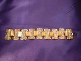 Early Matisse Renoir Enamel Panel Copper Bracelet Signed Designer Vintage - $200.48