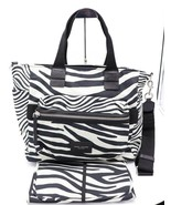 NWT Marc Jacobs Zebra Print Black White Biker Baby Diaper Bag Tote New $320 - $168.00