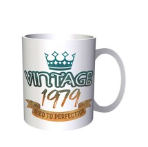 Vintage 1979 Aged To Perfection Made In Born  11oz Mug kk78 - $10.83