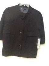 Anne Klein Short Half Sleeve blazer jacket Lined Black size L Large NWT ... - $48.95