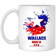 Personalized Mug with Name for Him, Her - Wallace Made in USA Flag Water... - $16.78