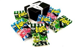 Eiffel Bon Bons 2-Flavor Variety: Three 4 oz Bags Each of Strawberry and Apple i