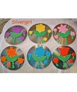 OOAK Handmade Spring Flower Drink Coaster Set of 6 - $14.99