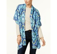 Echo Paisley Oblong Wrap & Scarf in One (Navy, One Size) - $40.75