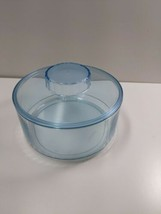 Tupperware Candy Canister 2062A-1 Clear Blue with Lid  - $18.61