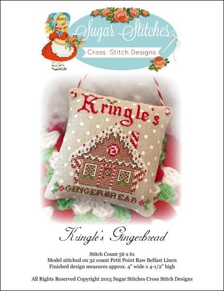 Primary image for Kringle's Gingerbread christmas cross stitch chart Sugar Stitches Designs
