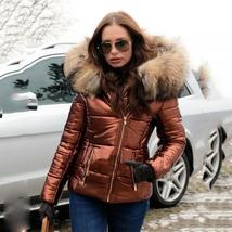 Black Solid Quilted Faux Fur Hooded Long Sleeve Casual Thick Coat image 4