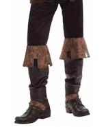 Renaissance Foire de Luxe Bottes Marron Médiéval Sur-Chaussures Neuf en ... - $14.69