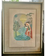 Judith Bledsoe Aquarius Zodiac Signed and Number art framed  - $299.99