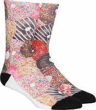 NEW Neff OSFM Yummy Glazed Sprinkles Donut Cotton Poly Crew Socks 15F16017 NWT
