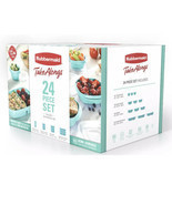 Rubbermaid TakeAlongs Meal Prep 24- Piece Food Storage Containers, Teal - $5.93