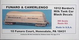 Funaro & Camerlengo HO Borden's Milk Tank Car , w/Black  decals, kit 1012 image 1