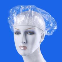 Shower Caps 100 Pcs Disposable Elastic Waterproof Clear Bath Plastic Spa Salon - $7.11