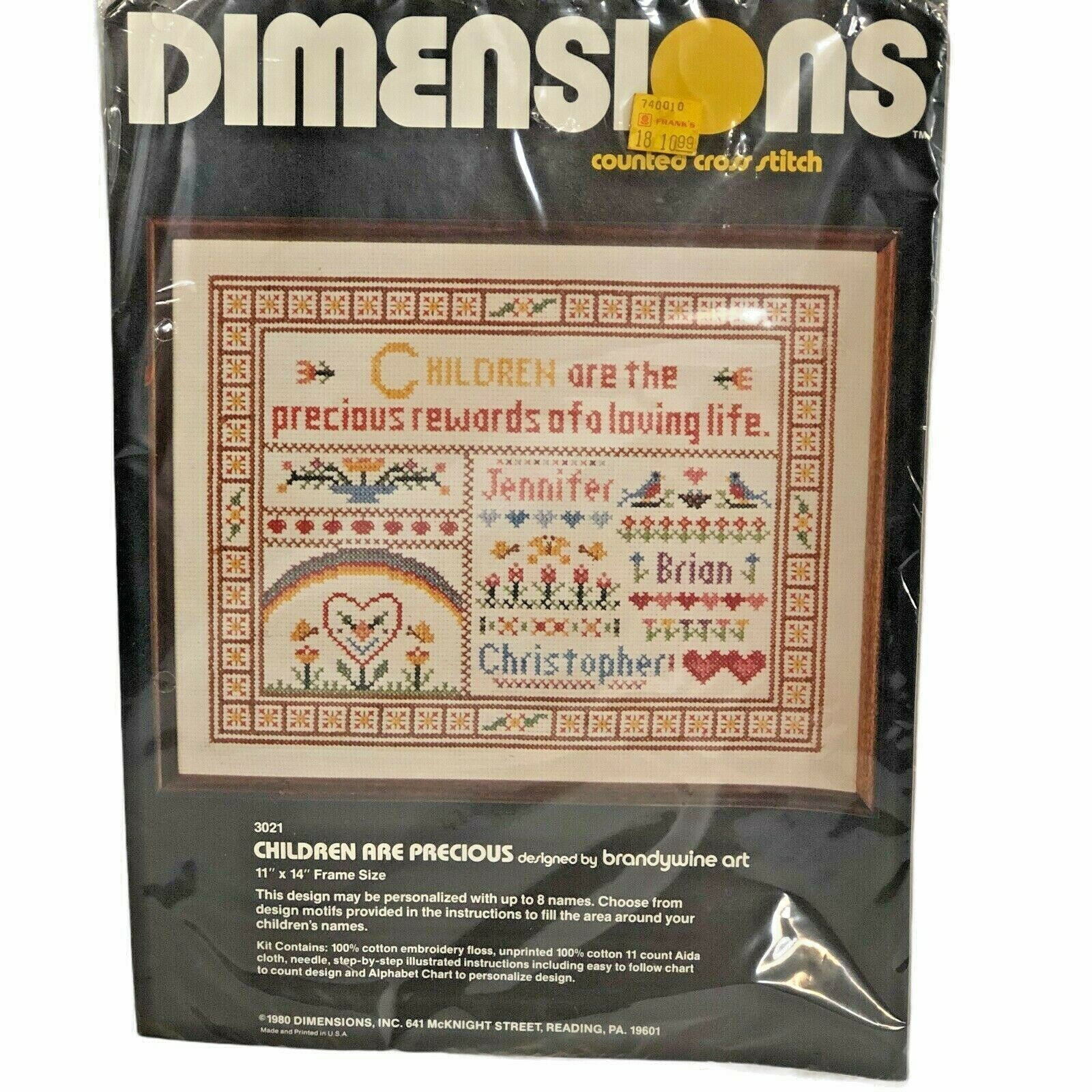 Vintage Dimensions Children are Precious Counted Cross Stitch Kit 3021 Sampler  - $14.84