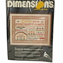 Vintage Dimensions Children are Precious Counted Cross Stitch Kit 3021 S... - $14.84
